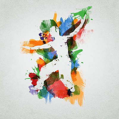 Inspirational Mixed Media - Karate Fighter by Aged Pixel