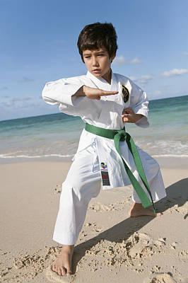 Karate Kid Print by Brandon Tabiolo
