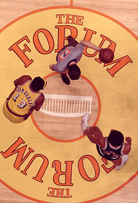 Jabbar And Chamberlain  Art Print by Retro Images Archive