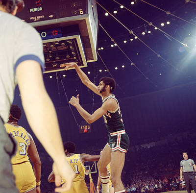 Kareem Abdul Jabbar Follow Through Art Print by Retro Images Archive