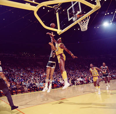 Kareem Abdul Jabbar Vs. Chamberlain Art Print by Retro Images Archive