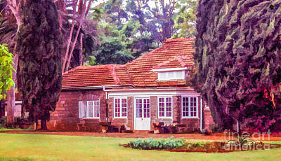 Digital Art - Karen Blixen Museum by Liz Leyden