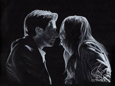 Drawing - Karen Gillan And Arthur Darvill by Rosalinda Markle