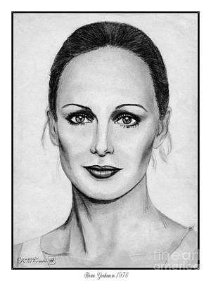 Karen Graham In 1978 Art Print by J McCombie