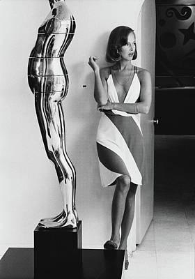 Art Model Photograph - Karen Graham Wearing A Neil Bieff Dress by Kourken Pakchanian