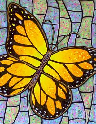 Art Print featuring the painting Karens Butterfly by Jim Harris