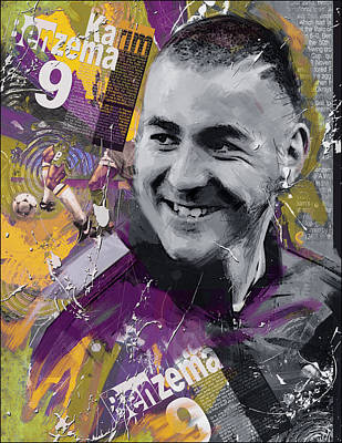 Karim Painting - Karim Benzema - C by Corporate Art Task Force