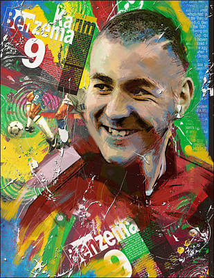 Fifa Painting - Karim Benzema by Corporate Art Task Force