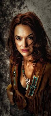 Art Print featuring the photograph Karina - Indian Jacket ... by Chuck Caramella
