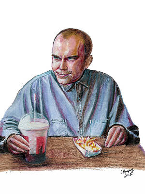 Fries Mixed Media - Karl by Charles Murphy