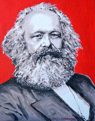Marx Painting - Karl Marx by Victor Minca