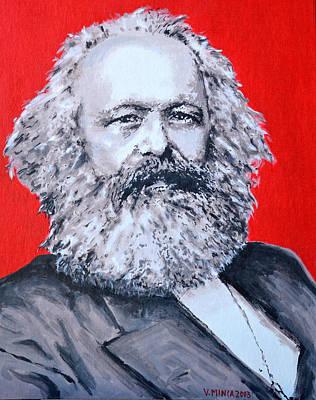 Shark Art - Karl Marx by Victor Minca