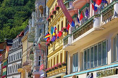 Karlovy Vary Print by Mariola Bitner