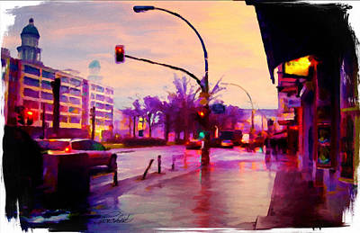 Digital Art - Karlsruhe Germany Street Scene by Pachek