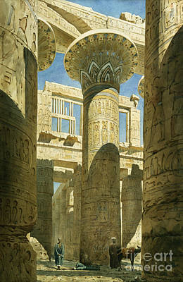 Carved Painting - Karnak by Richard Phene Spiers