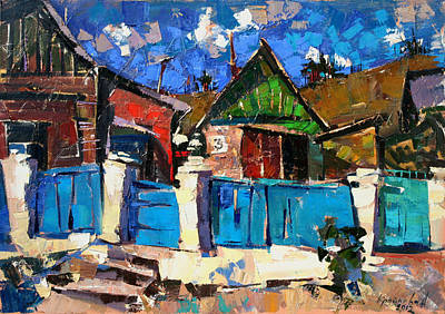 Shed Painting - Karpaty-charleston. by Anastasija Kraineva
