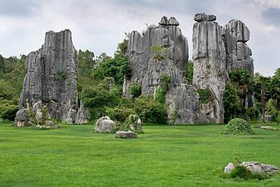 Peoples Republic Of China Photograph - Karst Stone Forest In Yunnan Province by Tony Camacho