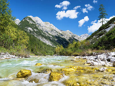 Large Format Photograph - Karwendel Valley In The Alpenpark by Martin Zwick