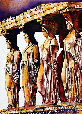 Painting - Karyatides by Maria Barry