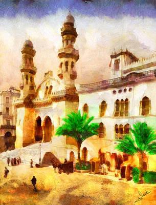 Floral Painting - Kasbah Of Algiers by George Rossidis