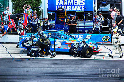 Kasey Kahne's Last Stop Before Victory Art Print by Tony Cooper