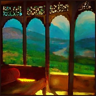 Mountain View Mixed Media - Kashmeer by S Seema  Z