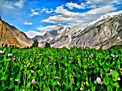 Painting - Kashmir Field by Florian Rodarte