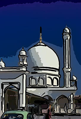 Vale Digital Art - Kashmir Mosque 2 by Steve Harrington