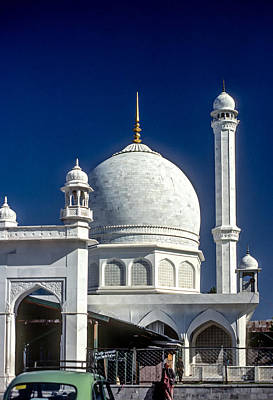 White Marble Photograph - Kashmir Mosque by Steve Harrington