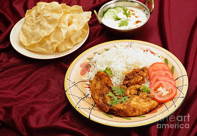 Photograph - Kashmiri Chicken Meal by Paul Cowan