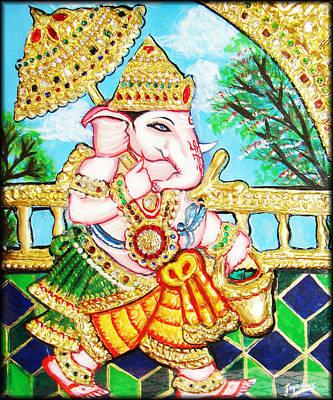 Painting - Kasi Yatra Ganesh by Jayashree