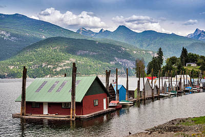 Photograph - Kaslo At Kootenay Lake, British by Witold Skrypczak