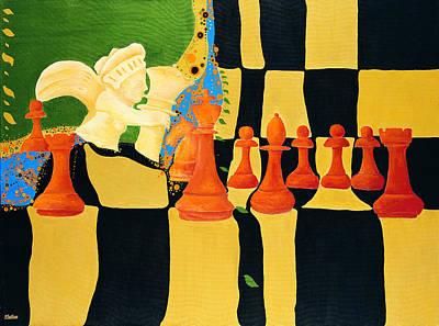 Kasparov-karpov Art Print by Nicolas Sphicas