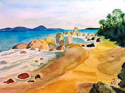 Painting - Kassa Island In Guinea by Jutta B