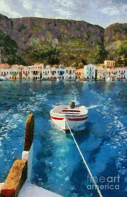 Painting - Kastellorizo Island by George Atsametakis