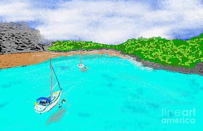 Greek Icon Digital Art - Kastelorizo Island by Jiovanni Dim
