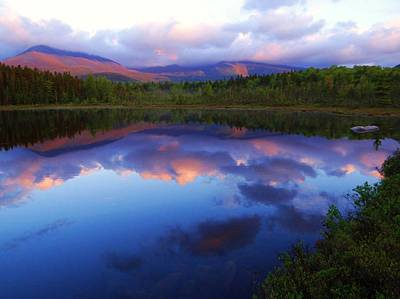 Katahdin Alpenglow Art Print by Tim  Canwell