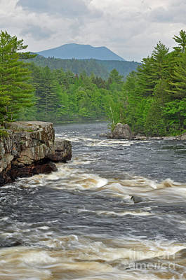 Katahdin And Penobscot River Art Print by Glenn Gordon