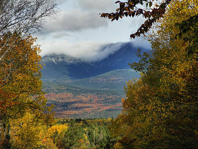 Print featuring the photograph Katahdin Autumn by Gene Cyr