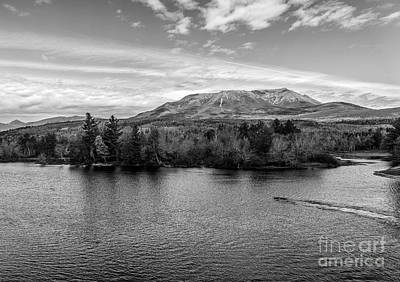 Photograph - Katahdin From Abol Bridge Black And White by Glenn Gordon
