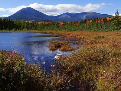 Mt. Katahdin Photograph - Katahdin From Martin's Pond by Tim  Canwell