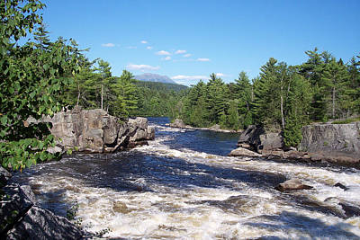 Katahdin From The Crib On The West Branch Art Print