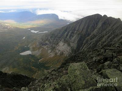 Katahdin Knifes Edge Art Print by Jonathan Welch