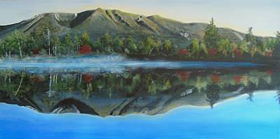 Mount Katahdin Painting - Katahdin Mist by Janet Glatz