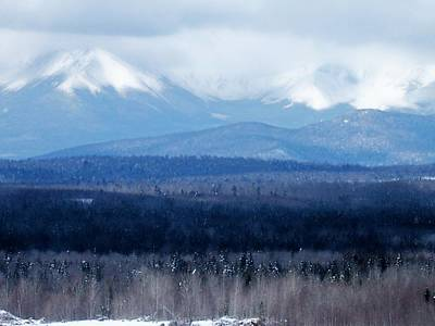 Print featuring the photograph Katahdin Snow by Gene Cyr