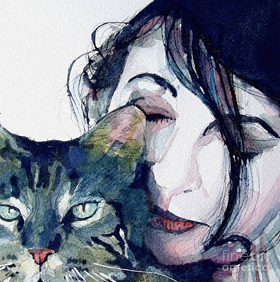 Bushes Painting - Kate And Her Cat by Paul Lovering