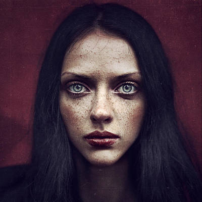 Red Photograph - Kate by Anka Zhuravleva