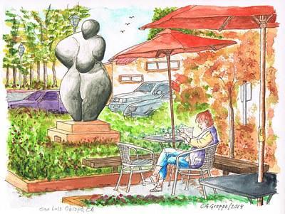 San Carlos Painting - Kate Britton Sculpture In San Luis Obispo, California by Carlos G Groppa