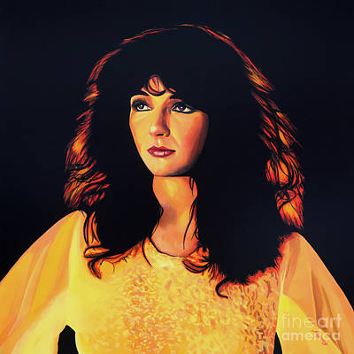 Kate Bush Painting Art Print by Paul Meijering