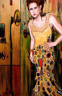 Pople Painting - Kate by Debi Starr